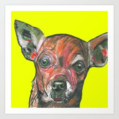 Chihuahua, printed from an original painting by Jiri Bures Art Print