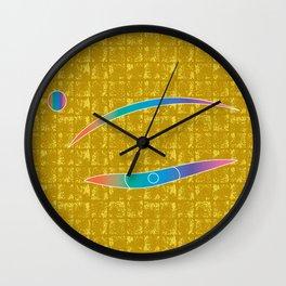 The Eye of MIROKU GOD on Gold-leaf Screen Wall Clock
