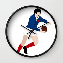 Rugby Champagne, le French Flair Wall Clock