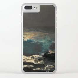 Moonlight, Wood Island Light by Winslow Homer, 1894 Clear iPhone Case
