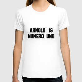 Arnold Is Numero Uno Mens RINGER Retro Birthday Gift birthday game T-shirt