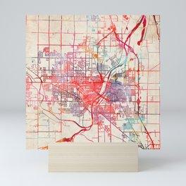 Saginaw map Michigan MI Mini Art Print