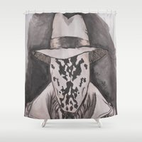 rorschach Shower Curtains featuring Rorschach  by Taylor Starnes