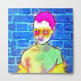 """The Wonderful Stank Eye"" By Nacho Dung. Metal Print"