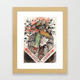 NO BLOOD, NO FOUL Framed Art Print