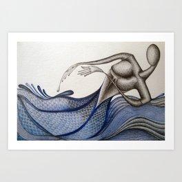 Soft Water Rinse Art Print