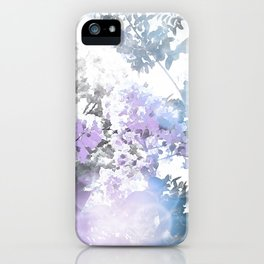 Watercolor Floral Lavender Teal Gray iPhone Case