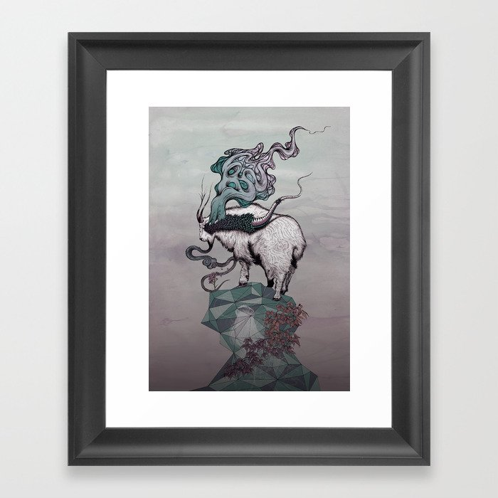 Seeking New Heights Framed Art Print