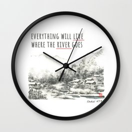 River of Living Water Wall Clock