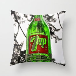 Classic 7 Up bottle Throw Pillow
