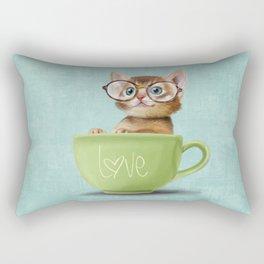 Kitten with glasses Rectangular Pillow