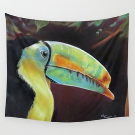 Toco Toucan (Ramphastos Toco) Pastels Artwork Wall Tapestry