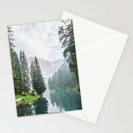 Forest Reflection in Italy Stationery Cards