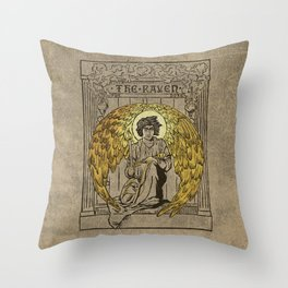 The Raven. 1884 edition cover Throw Pillow
