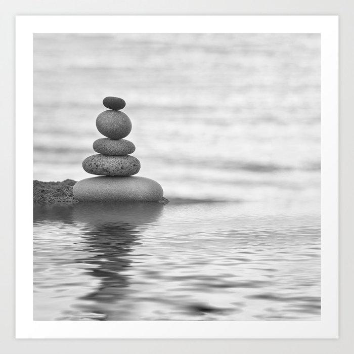 Seaside Harmony Zen Pebble Kunstdrucke