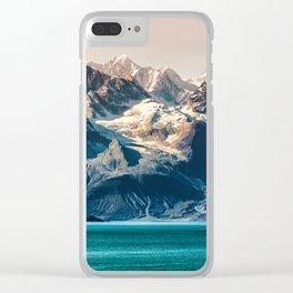 Scenic sunset Alaskan nature glacier landscape wilderness Clear iPhone Case