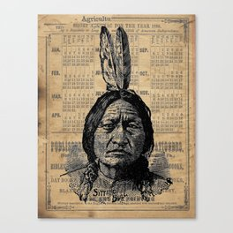 Sitting Bull Native American Chief  Canvas Print