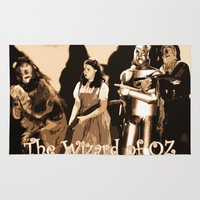 oz Area & Throw Rugs featuring Oz * El Mago de Oz * Movies Inspiration by Freak Shop | Freak Products