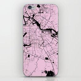 Amsterdam Pink on Black Street Map iPhone Skin
