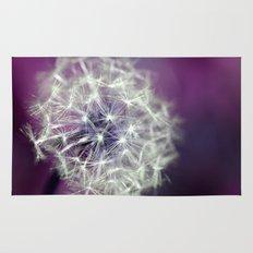 purple dandelion Rug