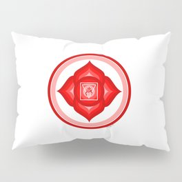 I AM - Red Lotus Root Chakra Yoga Meditation Mantra Pillow Sham