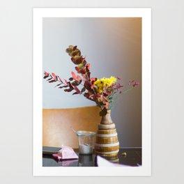 lovers table Art Print