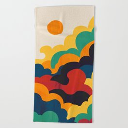 Cloud nine Beach Towel