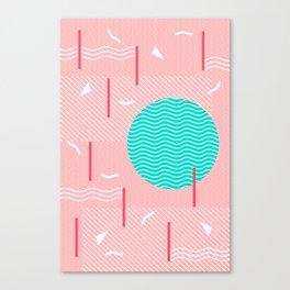 Memphis Summer Splash Canvas Print