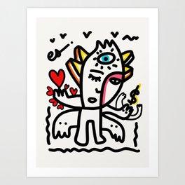 Love and Money Graffiti Art Black and White Graffiti by Emmanuel Signorino  Art Print