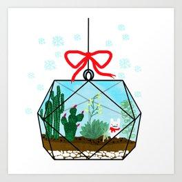 Cactus Terrarium Christmas Gift Art Print