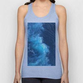 Ocean Blue Waves Unisex Tank Top