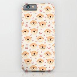 Cute Shiba Inu Dog Pattern iPhone Case