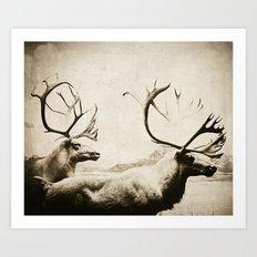 cariboutimestwo Art Print