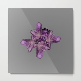 LIGHT PURPLE AMETHYST GEMSTONE CRYSTALS GREY ART Metal Print