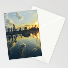 nothern sunset Stationery Cards