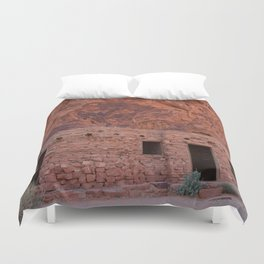 CCC Cabins-1, Valley of Fire State Park, Nevada Duvet Cover