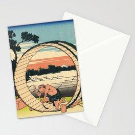 Katsushika Hokusai - 36 Views of Mount Fuji (1832) - 9: Fuji View Field in Owari Province Stationery Cards