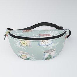 Christmas Jars Mint Fanny Pack