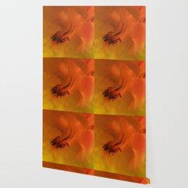 Columbine Flower Edited Orange Wallpaper