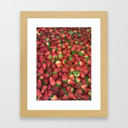 Strawberry Song Framed Art Print