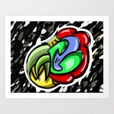 Digital Abstract Graffiti #4 Art Print