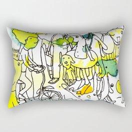 Character Cohesion Rectangular Pillow