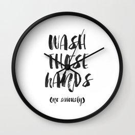 WASH THOSE HANDS Bathroom Wall Decor Bathroom sign Shower Decor Bathroom Rule Nursery Print Nursery Wall Clock