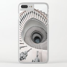 Pretty white spiral staircase Clear iPhone Case