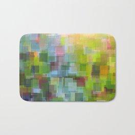 Abstract Grassy Field Bath Mat