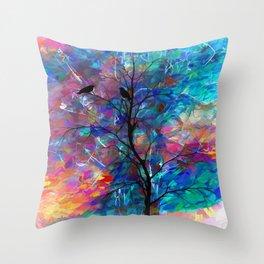 Love Birds Abstract #society6 #decor #lovebirds by Lena Owens @OLena Art Throw Pillow