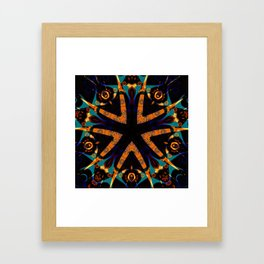 Tribal Geometric Framed Art Print