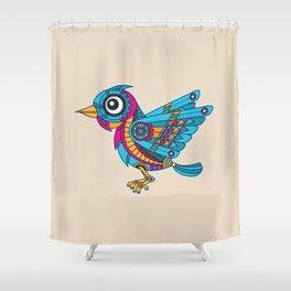 Mechanical Bird Shower Curtain