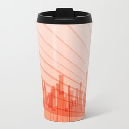 City Abstract Background Travel Mug