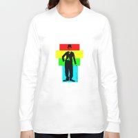 charlie chaplin Long Sleeve T-shirts featuring Charlie Chaplin by Silvio Ledbetter